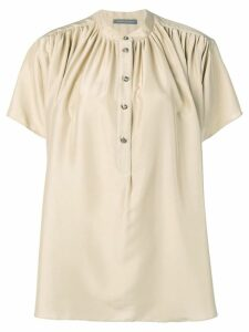 Alberta Ferretti flared button blouse - Neutrals