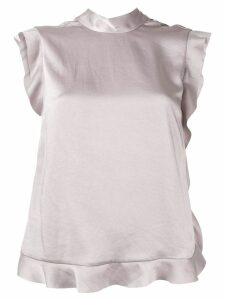 Red Valentino ruffled trim blouse - Grey