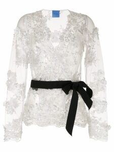 Macgraw Greta Crossover blouse - White