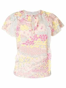 Red Valentino star print blouse - Pink