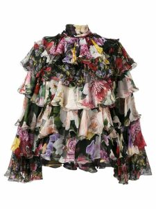 Dolce & Gabbana tiered floral blouse - Black