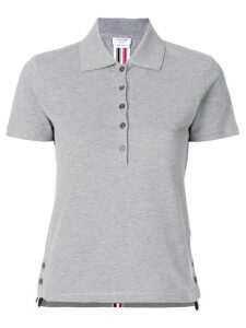 Thom Browne side slit polo shirt - Grey