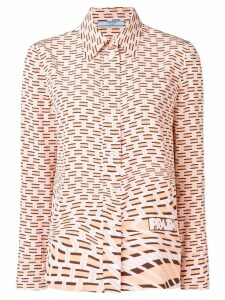 Prada geometric print shirt - Pink