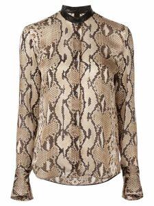 Petar Petrov Beale python print blouse - Brown