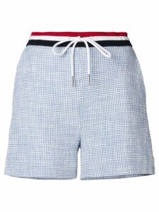 Thom Browne Textured Tweed Shorts - Blue
