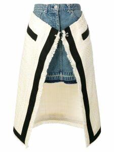 Sacai asymmetric denim skirt - Blue