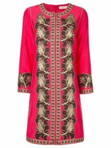 Tory Burch embroidered midi caftan - Pink
