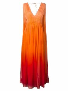 Alberta Ferretti ombré goddess gown - Orange