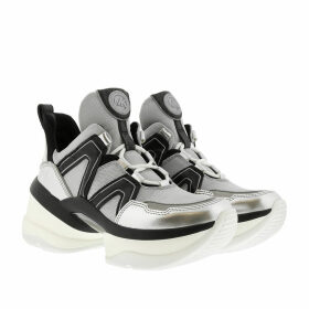 Michael Kors Sneakers - Olympia Trainer Silver/Black - grey - Sneakers for ladies