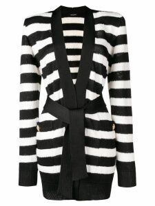 Balmain structured shoulder cardigan - Black