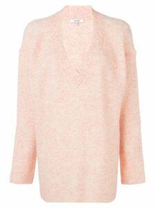 Ganni oversized knitted jumper - Pink