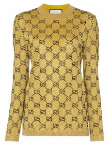 Gucci crystal GG wool blend jumper - GOLD