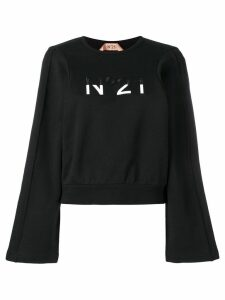 Nº21 embroidered logo jumper - Black