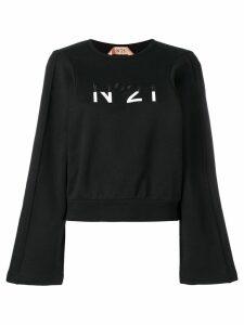 Nº21 embroidered logo jumper - Black