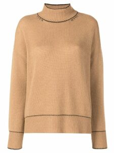 Marni contrast stitch jumper - Neutrals