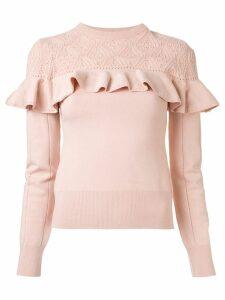 Erdem ruffle trimmed jumper - Pink