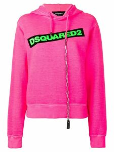 Dsquared2 contrast logo hoodie - Pink