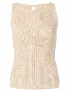 Ermanno Scervino crystal embellished top - NEUTRALS