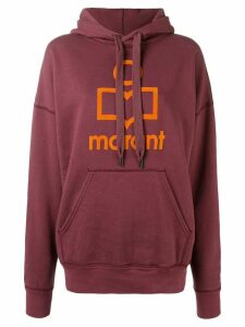Isabel Marant Étoile iconic logo hooded sweatshirt - PURPLE