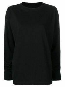 Mm6 Maison Margiela MM6 back print knitted sweatshirt - Black