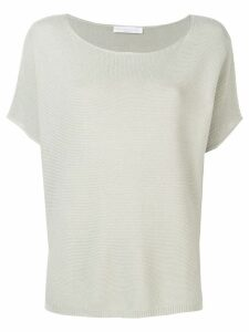 Fabiana Filippi knitted T-shirt - Grey
