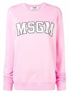 MSGM basic logo sweatshirt - PINK
