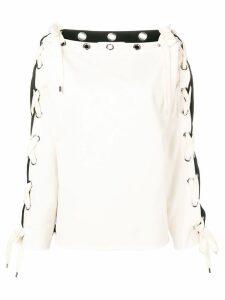 Philosophy Di Lorenzo Serafini back logo drawstring sweatshirt - White