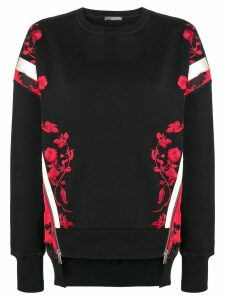 Alexander McQueen embroidered sweater - Black