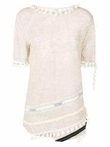 Loewe Pompons T-shirt - NEUTRALS