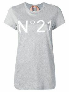 Nº21 logo printed T-shirt - Grey