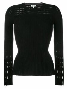 Kenzo cut-detail pleated top - Black