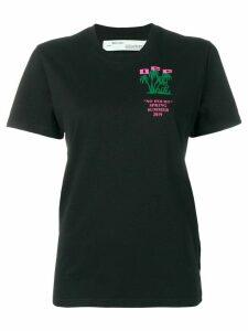 Off-White Island print T-shirt - Black