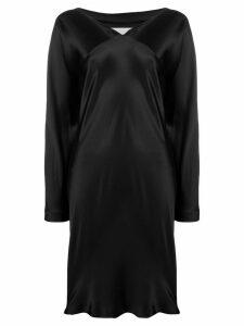 Maison Martin Margiela Pre-Owned silk wrap dress - Black
