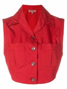 Romeo Gigli Pre-Owned 1990's cropped blouse - Red