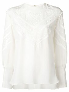 Chloé embroidered detail blouse - White