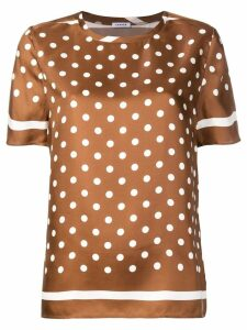 P.A.R.O.S.H. polka-dot blouse - Brown