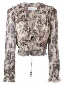 Zimmermann Juno tie blouse - Grey