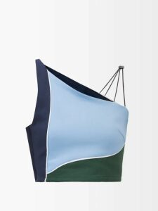 Thierry Colson - Slava Floral-print Linen Blouse - Womens - Light Blue