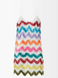 Thierry Colson - Slava Floral Print Linen Blouse - Womens - Light Blue