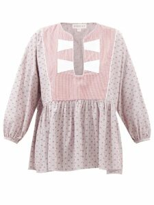 Rhode - Valentina Cotton-blend Wrap Top - Womens - Pink