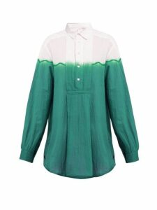 Kilometre Paris - Dip-dyed Cotton Shirt - Womens - Green