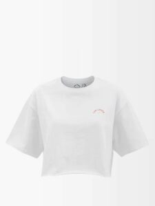 Zeus + Dione - Aegina Embroidered Cotton-blend Blouse - Womens - Ivory Multi