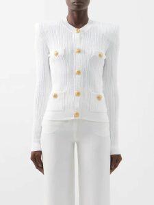 Melissa Odabash - Chelsea Embroidered Cotton Mini Dress - Womens - Blue Print
