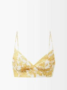Merlette - Off The Shoulder Tumbled Cotton Dress - Womens - Indigo