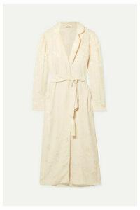 Johanna Ortiz - Western Intrigue Brocade Kimono - Ecru
