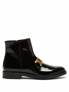 Peter Pilotto - Printed Ruched Seersucker Blouse - Womens - Navy Multi