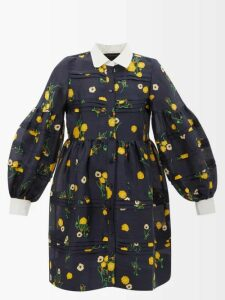 Valentino - Scale-print Silk Blouse - Womens - Brown Print