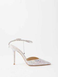 Giambattista Valli - Ruffled Lace Insert Silk Blouse - Womens - Pink
