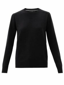 Balenciaga - Striped Logo Print Silk Blouse - Womens - White Multi