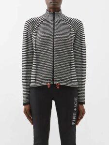 Gucci - Scarf Print Silk Shirt - Womens - Blue Multi
